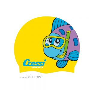 cressi-Junior-Fantasy-Silicon-Cap-yellow